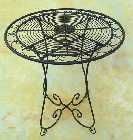 Kaffeetisch Bistrotisch Eisen Tisch Beistelltisch antik Gartentisch 0943770-b