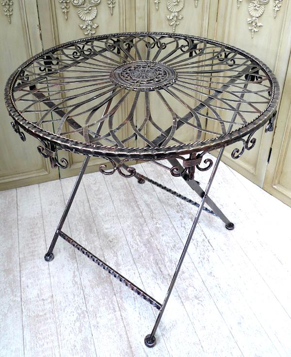 Kaffeetisch Bistrotisch Landhaus Eisen Beistelltisch Tisch Klapptisch 0945234 a | eBay