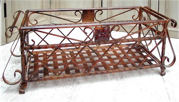 2er Set Balkonkasten Blumenkasten Pflanzkasten Schmiedeeisen stehend 0946474-a