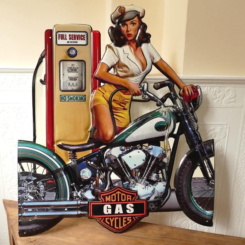 Blechschild Retro Nostalgie Fahrrad Werkstatt Wand Metall Schild 20X30 cm