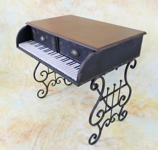 Konsolentisch Konsole Beistelltisch Wandkonsole Tisch Flügel Klavier E00237-b